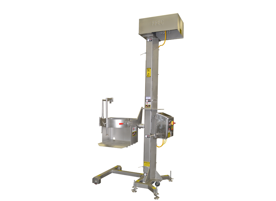 Stationary Cart Lift with barrel attachment